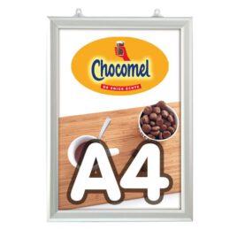 Slide-in frame 25 mm, A4, staand, dubbelzijdig