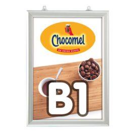 Slide-in frame 25 mm, B1, staand, dubbelzijdig