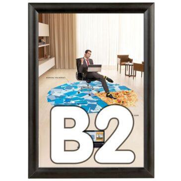 Kliklijst 25 mm B2 zwart geanodiseerd