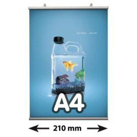 Poster Fast klemmen, A4, lengte 210 mm
