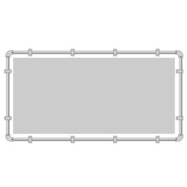 buizenframe 48 mm (spandoek) 200×400 cm