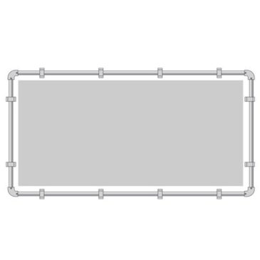 buizenframe 48 mm (spandoek) 200×500 cm
