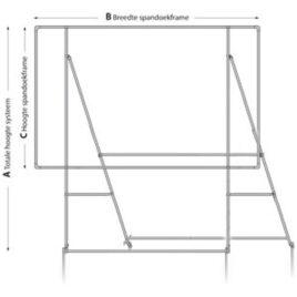 vrijstaand spandoekframe 3 x 1,5 meter