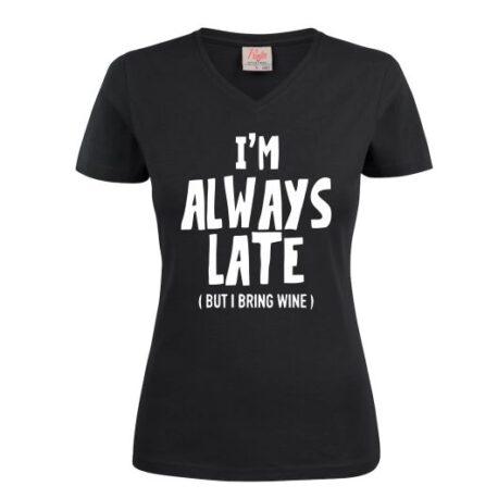 dames always late zwart