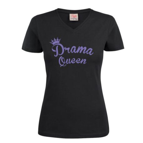 dames drama queen zwart