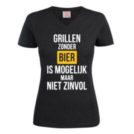 T-shirt grillen zonder bier