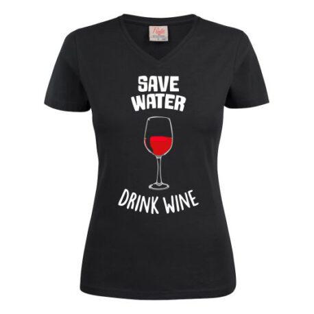 dames save water zwart