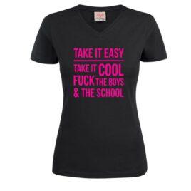 T-shirt Take it easy take it cool
