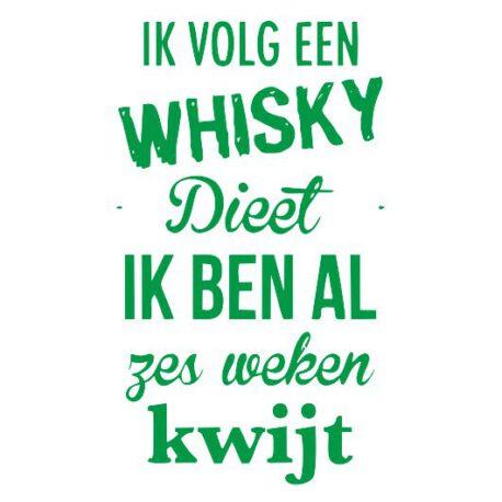 heren whisky dieet tekst
