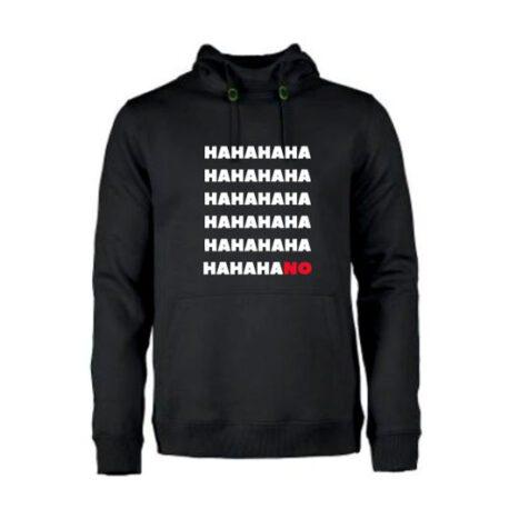 heren hoodie hahano zwart