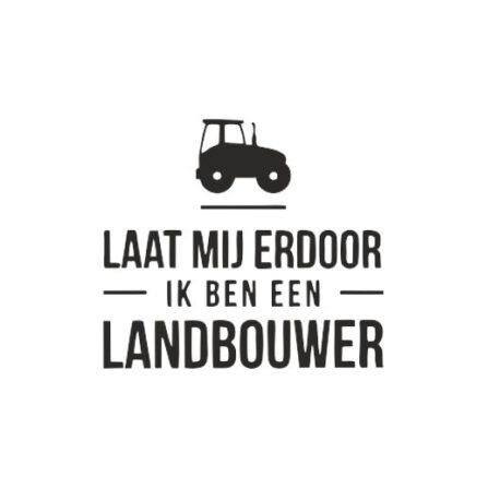 heren hoodie landbouwer tekst