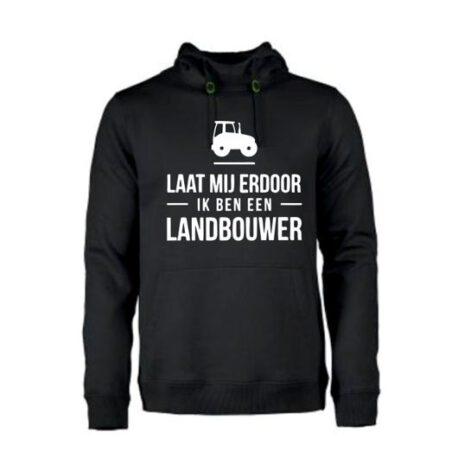 heren hoodie landbouwer zwart
