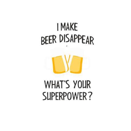 heren hoodie make beer disappear tekst