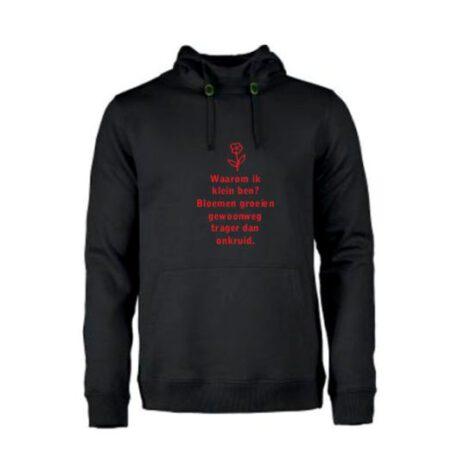 heren hoodie waarom klein zwart