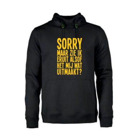 heren hoodie zie eruit alsof wat uitmaakt zwart