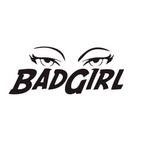 hoodie dames badgirl tekst