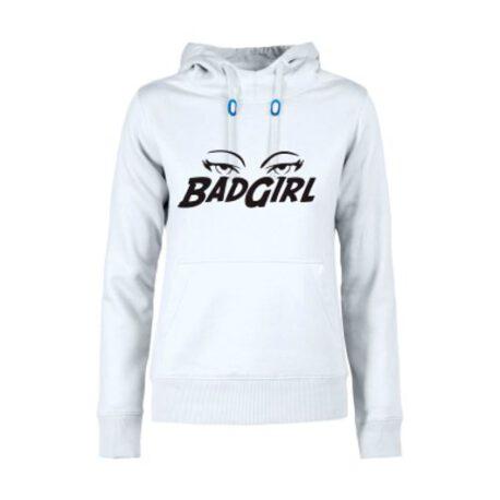 hoodie dames badgirl wit