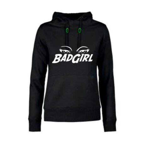 hoodie dames badgirl zwart