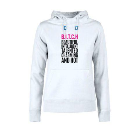 hoodie dames bitch wit