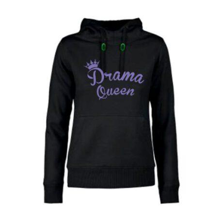 hoodie dames drama queen zwart – kopie
