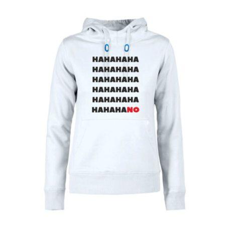 hoodie dames hahano wit