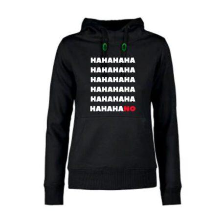 hoodie dames hahano zwart