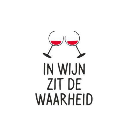 hoodie dames in wijn zit de waarheid tekst