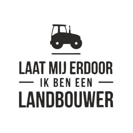 hoodie dames landbouwer tekst