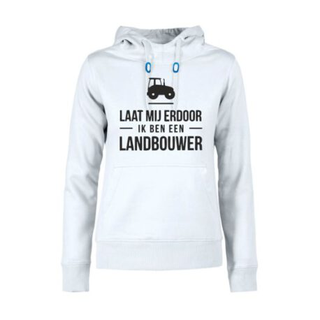 hoodie dames landbouwer wit