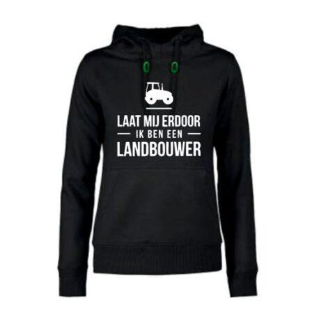 hoodie dames landbouwer zwart