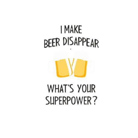hoodie dames make beer disappear tekst