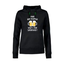 dames hoodie I make beer disappear