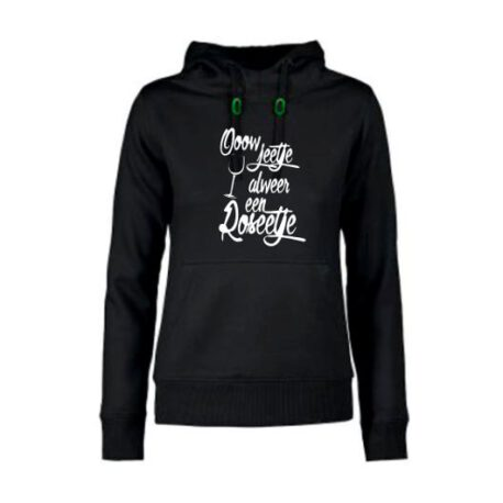 hoodie dames rosé zwart