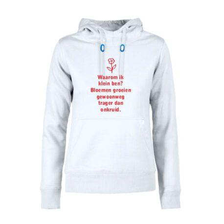 hoodie dames waarom klein
