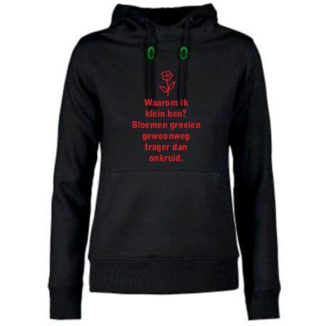 hoodie dames waarom klein zwart