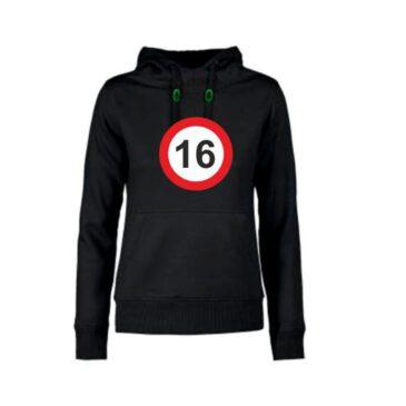 Dames hoodie 16 jaar
