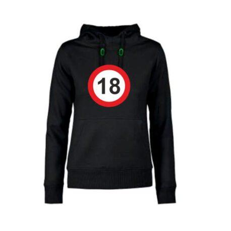 dames hoodie 18 zwart