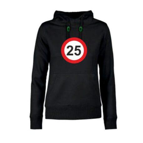 dames hoodie 25 zwart