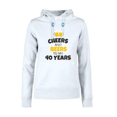 dames hoodie 40 bier