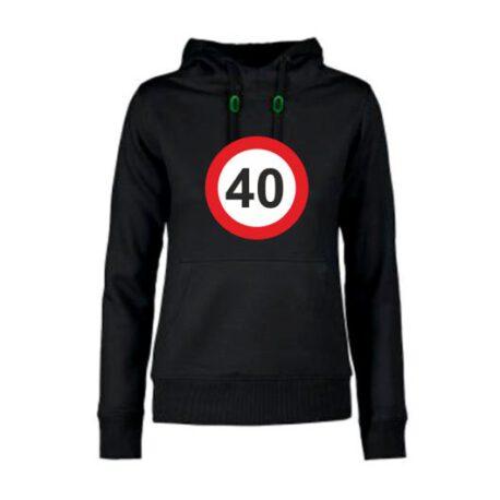 dames hoodie 40 zwart