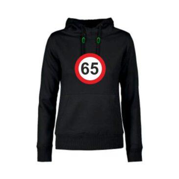 Dames hoodie 65 jaar