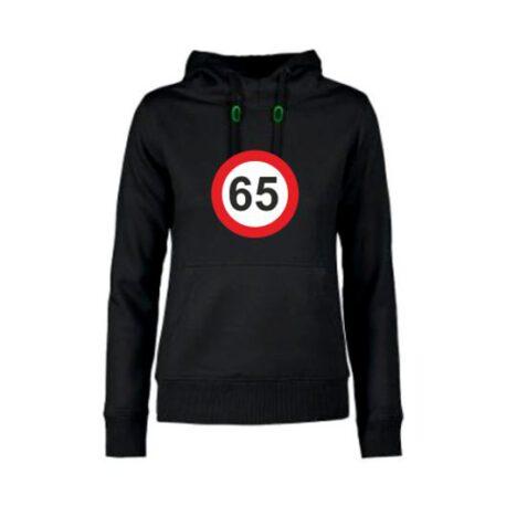 dames hoodie 65 zwart
