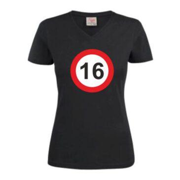 Dames T-Shirt 16 jaar