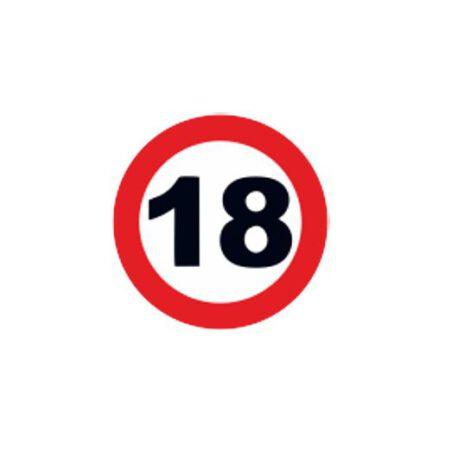 dames shirt 18 logo