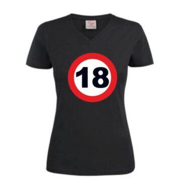 Dames T-Shirt 18 jaar