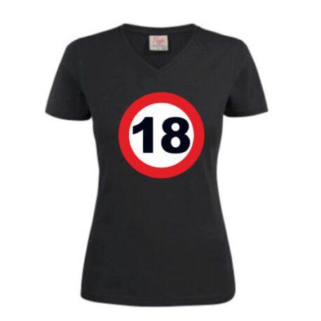 dames shirt 18 zwart