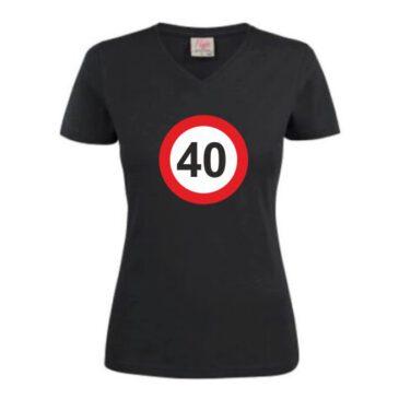Dames T-Shirt 40 jaar