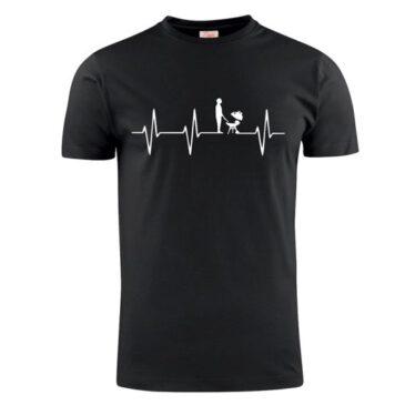 T-shirt heart beat BBQ