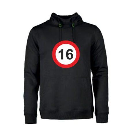 heren hoodie 16 zwart