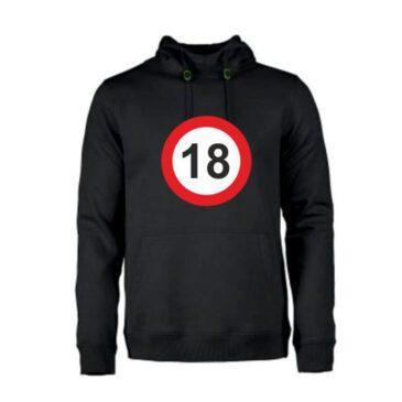 Heren hoodie 18 jaar